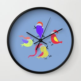 Bird Christmas Gifts Wall Clock