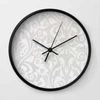 victorian Wall Clocks featuring Victorian by Pink Berry Patterns