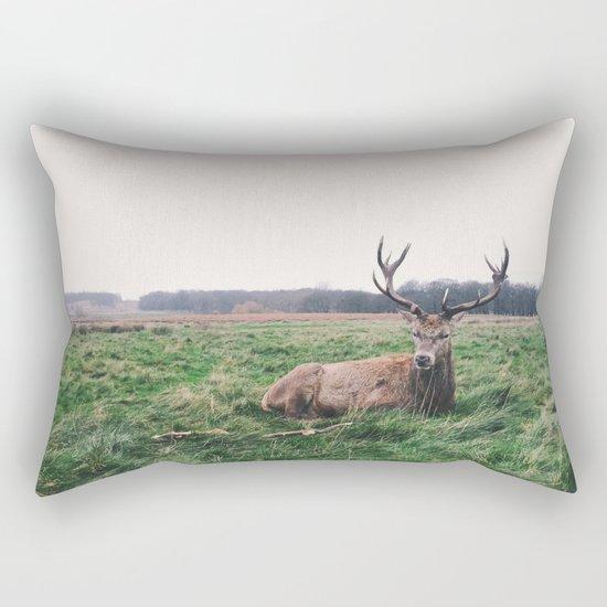 Deer #landscape Rectangular Pillow