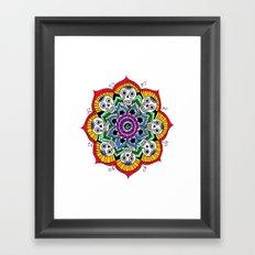 mandalavera de colores Framed Art Print