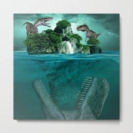 Fantasy Dinosaurs Metal Print