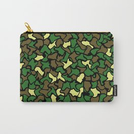 Camouflage Wobble Tile Pattern Carry-All Pouch