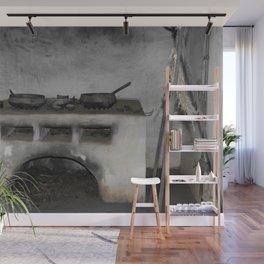 Old Florida Spanish stove Wall Mural
