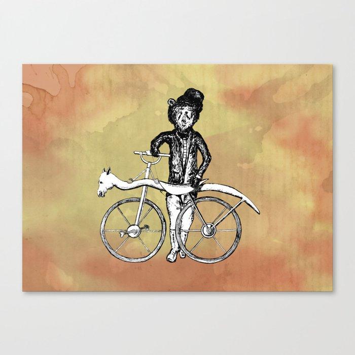 Bear's Bike Canvas Print