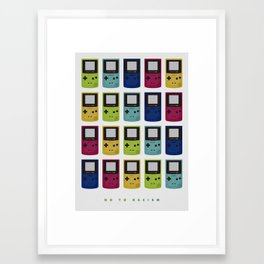 NO TO RACISM Framed Art Print