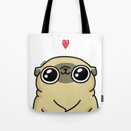 Mochi the pug loves you Tote Bag