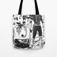 manga Tote Bags featuring Manga 04 by Zuno