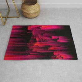 Burnout - Glitch Abstract Pixel Art Rug