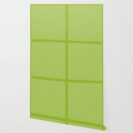Tiny Paw Prints Pattern - Bright Green & White Wallpaper