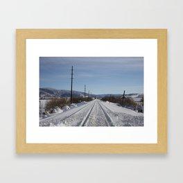 Carol M. Highsmith - Snow Covered Railroad Tracks Framed Art Print