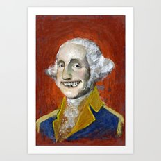 Happy George Art Print