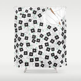 Life is poetry Shower Curtain