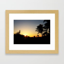 Just another day in paradise! Framed Art Print