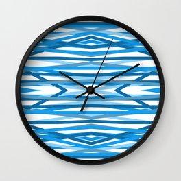 Blue Lining Wall Clock
