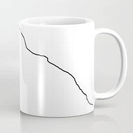 K2 Art Print / White Background Black Line Minimalist Mountain Sketch Coffee Mug