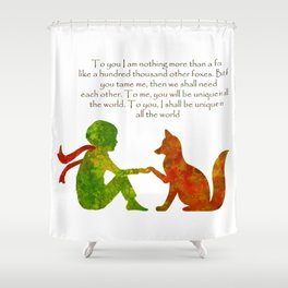 Little Prince Quote Shower Curtain