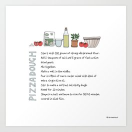 Pizza Dough Art Print