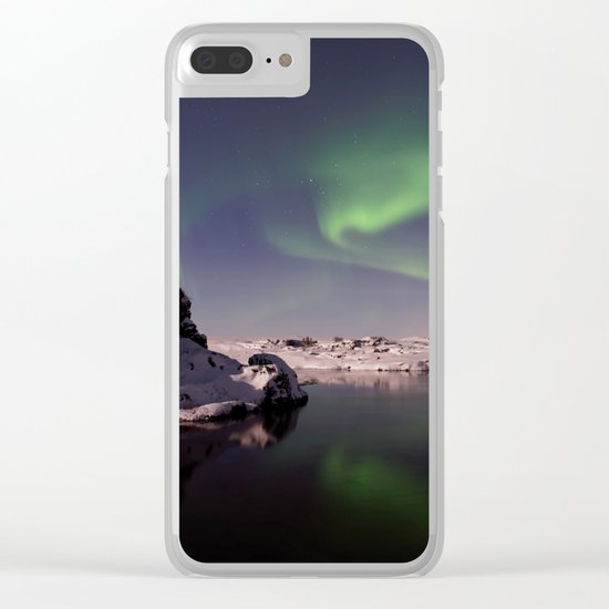 Northern Lights XVV Clear iPhone Case