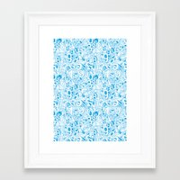 numbers Framed Art Prints featuring Numbers by Ramses Pujol
