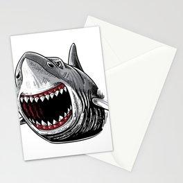 Shark Attack Shirt Megalodon Giant Horror Gift Stationery Cards