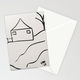 A Minimalist Charcoal Drawing of Paradise Hill Stationery Cards
