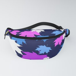 Autumn leaves in purple and blue colors Fanny Pack