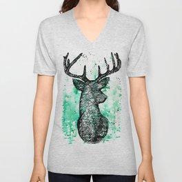 Deerprint Unisex V-Neck