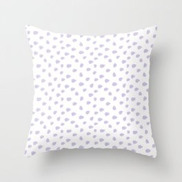 Lilac Seamless Pattern Paint Brush Strokes Throw Pillow