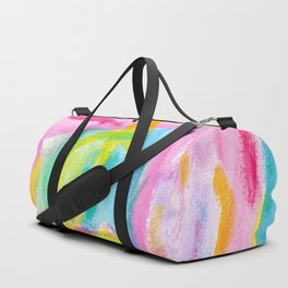 Dream on no.0 Colorful Abstract Painting Pink Modern Art Colorful Brush Art Duffle Bag