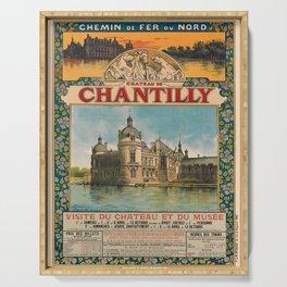 chateau de chantilly. circa 1895  poster Serving Tray