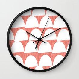 Shroom reverse coral Wall Clock