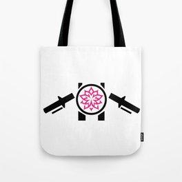 2-Wheeled Flower Power Tote Bag