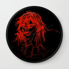 Bloody Red Clown - Laughing Jack Wall Clock