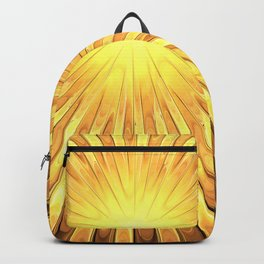 Rays of GOLD SUN abstracts Backpack