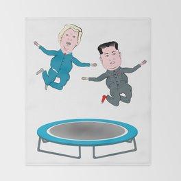Trump and Kim Jong Un Throw Blanket