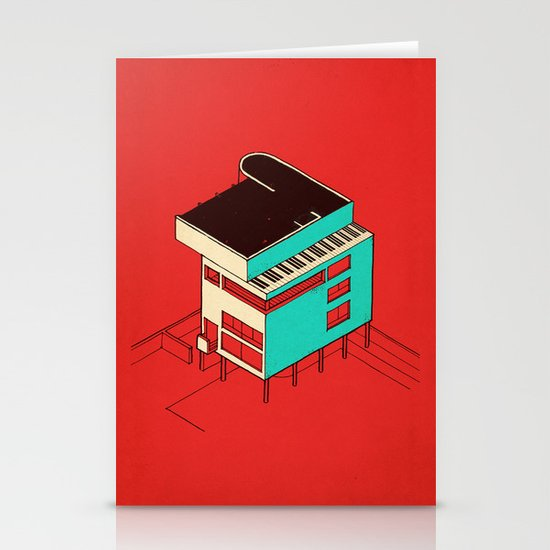 Music & Architecture Stationery Cards