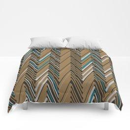 Abstract Chevron III Comforters