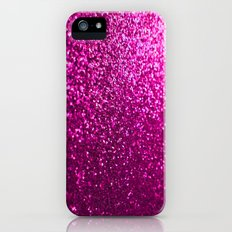 Pink Sparkle Glitter iPhone (5, 5s) Slim Case