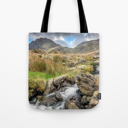 Tryfan Mountain River Tote Bag