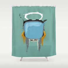 The Robot Shower Curtain