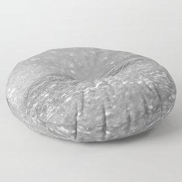 Glitter Silver Floor Pillow