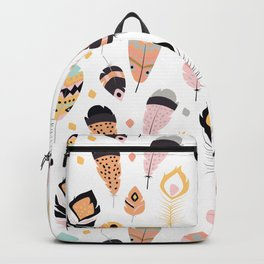 Tribal feather pattern 021 Backpack