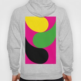 Small little colorful ghosts hanging around in a purple room. Hoody