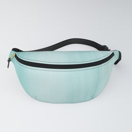 Touching Aqua Blue Watercolor Abstract #2 #painting #decor #art #society6 Fanny Pack