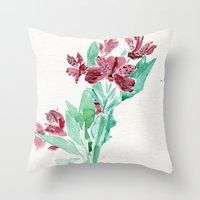 peru Throw Pillows featuring Peru Lilies by Kate Havekost Fine Art