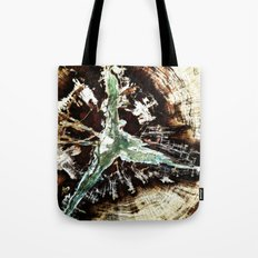 Green Vein Tote Bag