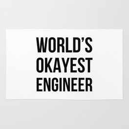 World's Okayest Engineer Rug
