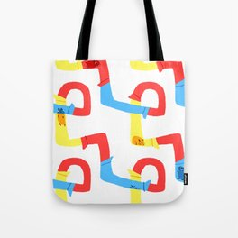 Hamster tube fun time Tote Bag