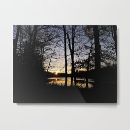 Nature Preserve at Sunset Metal Print