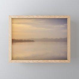 Scaling Dam Framed Mini Art Print